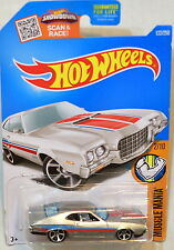 HOT WHEELS 2016 MUSCLE MANIA '72 FORD GRAN TORINO SPORT #2/10 SILVER