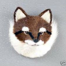 RED FOX HEAD-Fur Refrigerator Magnets! MINIATURE THROPHY:-)