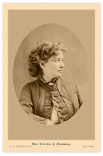 VICTORIA WOODHULL 1st Woman Pres Candidate 1872 Women's Suffrage Leader Photo RP