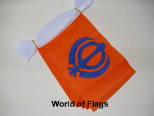 SIKH FLAG BUNTING Sikhism 9m 30 Polyester Fabric Party Flags India Asia Asian