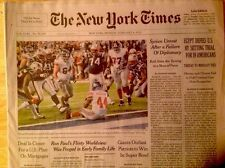 2012 NEW YORK GIANTS SUPER BOWL XLVI CHAMPS NY TIMES NEWSPAPER 2/6/12 ELI MVP