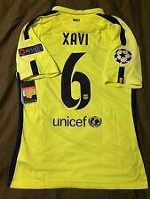 NIKE L. XAVI FC BARCELONA CHAMPIONS LEAGUE AUTHENTIC 3RD MATCH JERSEY 2014/15