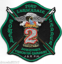 "Ft. Lauderdale Tower-Ladder-2  ""Downtown"", FL  (4"" x 4"" size) fire patch"