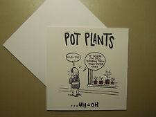 Pot plantes Andy Riley / NOEL Tatt Vide Anniversaire Carte Humour Drôle rrp £ 1,99