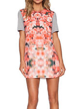 Finders Keepers Stolen Chance Pink White Flower Print T Shirt Dress 6 8