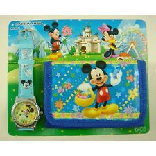 NEW Mickey Mouse Girls Women Kids Girls Wrist Watch & Purse Wallet 1 SET