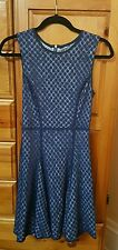 Victoria's secret reversible light blue and navy blue lace dress size 4 NWT
