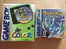 Nintendo Game Boy Color Kiwi USA Pokémon Crystal Bundle Rare