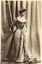 BE690 Carte Photo vintage card RPPC Femme woman Brésil dress mode fashion robe