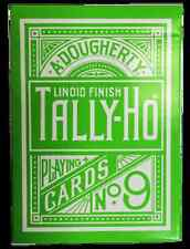 TALLY HO REVERSE CIRCLE BACK GREEN DECK PLAYING CARDS ALOY STUDIOS MAGIC TRICKS