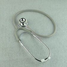Nurse Doctor Double Dual Head Stethoscope First Aid Training Medical Home Gray