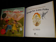 PETER YARROW SIGNED SONGS FOR LITTLE FOLKS FIRST PRINTING HC BOOK W/12 SONG CD