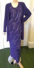 Danish Designer Evening/Cruisewear Separates:Size12:Purple/Glitter:New w/Tags