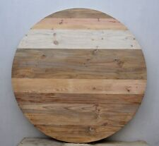"60""x60"" Round Reclaimed Rustic Shabby Chic Wood Restaurant Bar Coffee Table Tops"