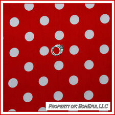 BonEful Fabric BTY Cotton Quilt Minnie Mouse Disney Red White Large Lg Polka Dot