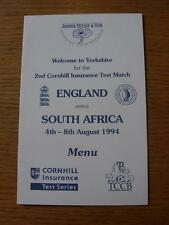 04/08/1994 Cricket: England v South Africa [At Headingley] 4th-8th August, A Din