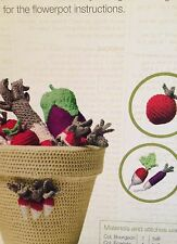 Crochet Vegetables - radish.tomato,leek.aubergine Crochet Pattern