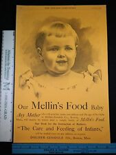 Rare Original VTG 1892 Scott's Emulsion Mellin's Food Baby Advertising Art Print