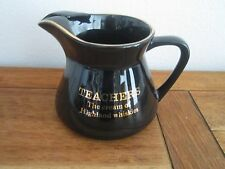PDM Wade TEACHER'S The Cream of Highland Whiskies Black & Gold Pitcher England