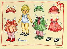 Allerliebstes Puppenkind ANNA Designer Anziehpuppe Kostüme Hüte Schuhe