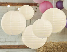Vintage Look Ivory Paper Lanterns x 5 - wedding & party decoration - Ginger Ray