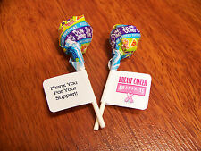 60 Personalized Glossy Breast Cancer Awareness Lollipop Favor Labels Stickers