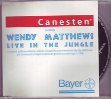 Wendy Matthews Live In The Jungle CD Canesten VERY RARE