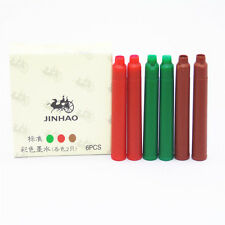 6pcs JINHAO 3 color ink Refill Fountain Pen New Brand Cartridge