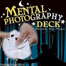 Mental Photography Deck Poker Size -Magic Trick Playing Cards -Fun & Easy to Do