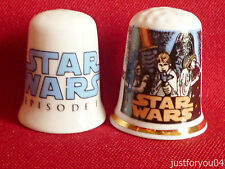 Set of Two Star Wars Episode 1,and Star Wars Collectors Thimbles