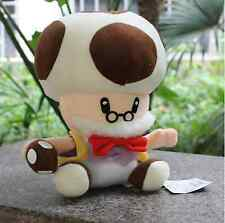 "Super Mario Bros Papa Toad Mushroom Man Stuffed Plush Soft Doll Toy 9"" US Shippe"