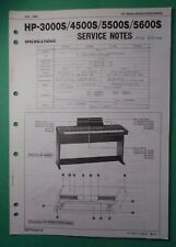 Original ROLAND Service Notes- HP-3000S/45000S/5500S/5600S  Electronic Piano