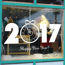 New Year 2017 Merry Christmas Wall Sticker Home Shop Windows Decals Decor White