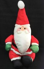 """ANCO Santa Claus Red Green Gloves Polyester Christmas Plush 20"""" Vintage 1992 Toy"""
