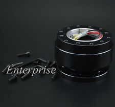 Black Universal 6 Hole Ball Steering Wheel Quick Release Hub Adapter Snap New