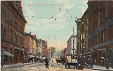 Antique POSTCARD c1910 State and Main Streets SPRINGFIELD, MA 18411
