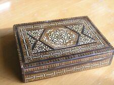 Exceptional Micro Mosaic Antique Persian Marquetry Inlay Hinged Box Khatam Kari
