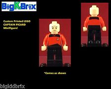 CAPTAIN JEAN LUC PICARD Star Trek Custom LEGO Minifigure NO DECALS USED!