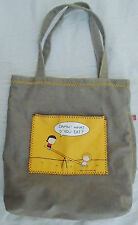 "***LELA LEE'S ANGRY LITTLE GIRLS ""DAMN! WHAT D' YOU EAT"" CANVAS TOTE BAG***"