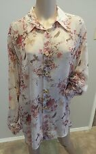 VTG 90's Dolce & Gabbana Italy Sheer Floral Grunge Tunic Top Blouse 38