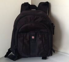 Swiss Army Victorinox Mini Backpack Black Mutil Storage Travel Outdoor Gear