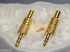 2 JACK 3,5 mm GOLD A SOUDER  INTRA CASQUES / DAC USB / MP3 CÂBLE IPOD /AMPLI