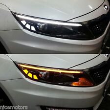 LED Light Chrome Molding 2Way Eyeline Lamp For Kia Optima K5 2011 2013