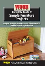 Wood Magazine Complete Guide to Simple Furniture Projects  DVD ROM