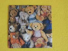 5 Stück Servietten Teddy Teddys Teddies Bären Plüschbären Serviettentechnik