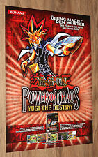 Yu-Gi-Oh! Power of Chaos Yugi the Destiny very rare Promo Game Poster 59x42cm