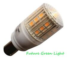 B15 24 SMD LED 3.8W 350LM 240V WARM WHITE BULB WITH COVER ~50W