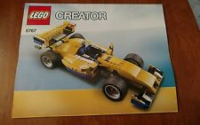 LEGO CREATOR Instruction Manual 5767 Cool Cruiser Race Car INSTRUCTIONS ONLY!
