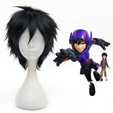 2015 New Anime Big Hero 6 Hiro Hamada Black 30cm Short Cosplay Wigs Anime Wig