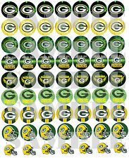 """SET of 56- 1"""" PRECUTS """"GREEN BAY PACKERS"""" Bottlecap images. WE CUT THEM!!"""